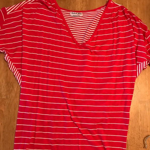 Michael Stars Tops Tshirt Red And White One Size Poshmark